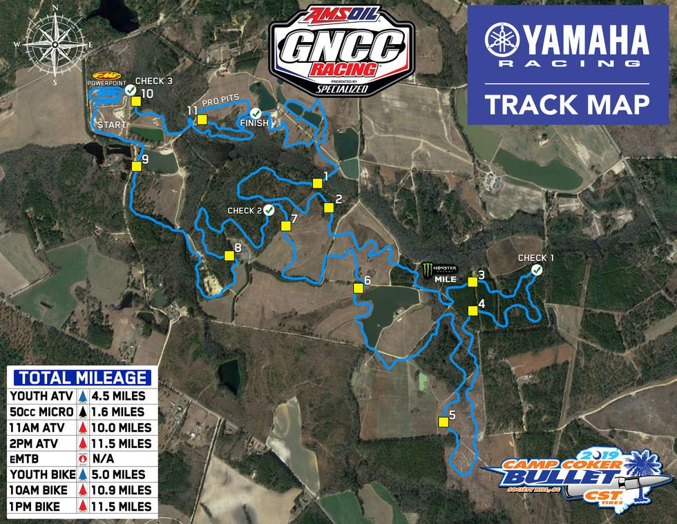 Moree's Sportsman's Preserve Track Map