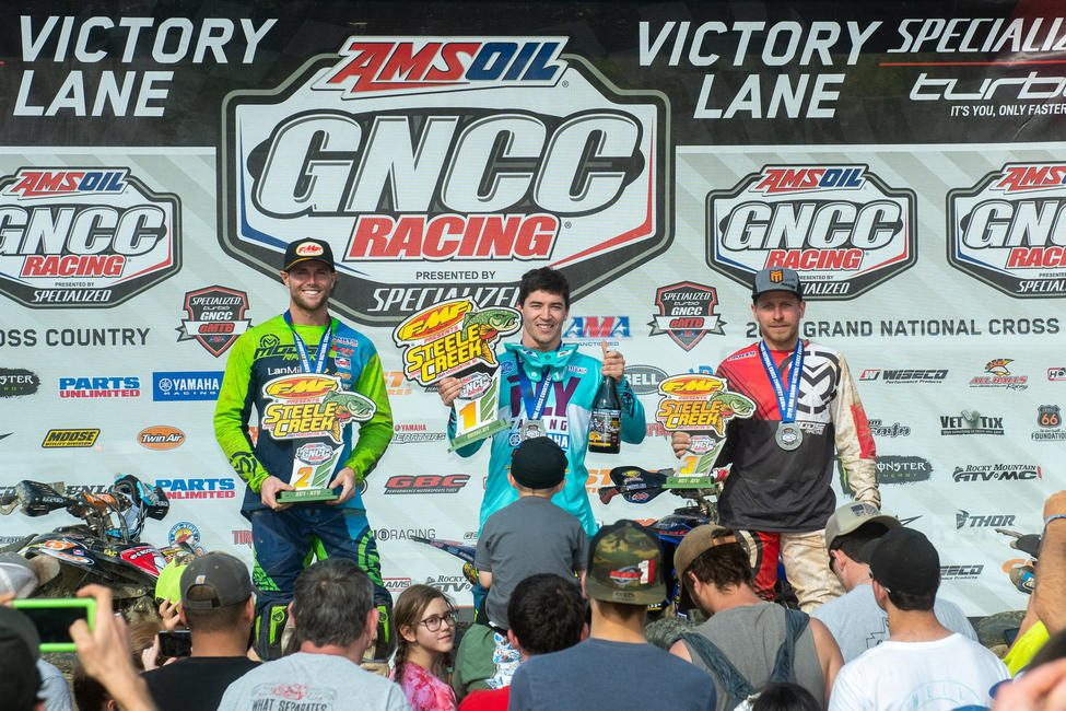 Walker Fowler (center), Brycen Neal (left) and Jarrod McClure (right) rounded out the overall ATV podium two weeks ago.
