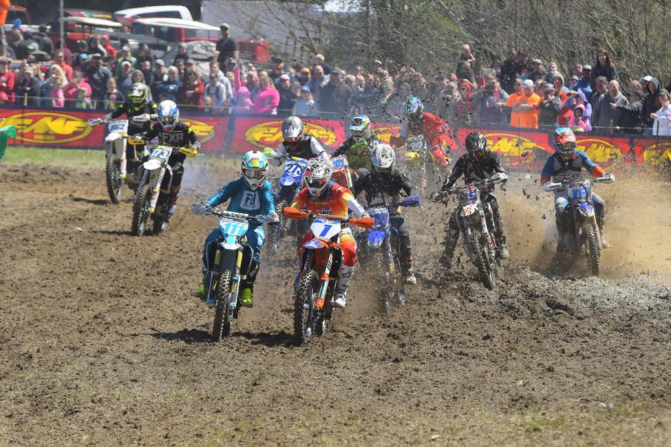 The FMF XC3 125 Pro-Am class battles are on to keep an eye on during Sunday's afternoon race.