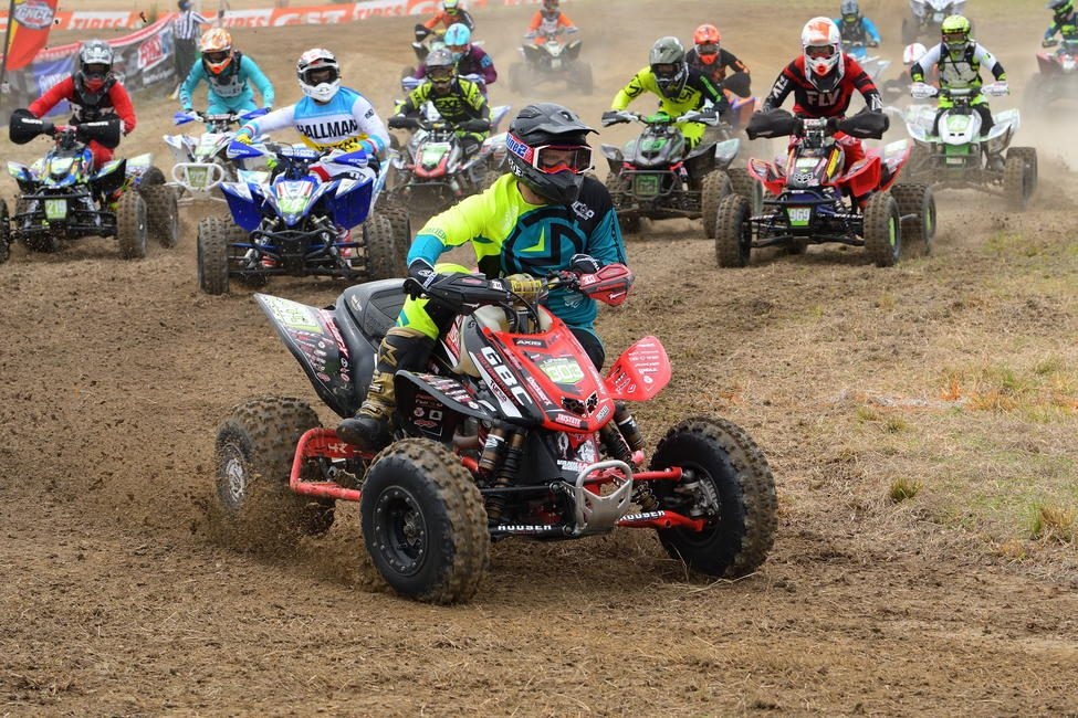 Matthew Lindle earned himself $100 by grabbing the All Balls Racing holeshot in the XC2 Pro-Am class.