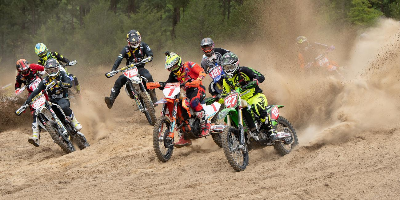 Kailub Russell Conquers Camp Coker Bullet GNCC After An Intense Battle