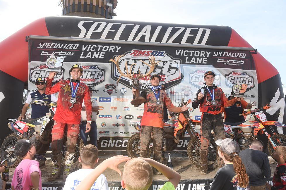 Kailub Russell captured the X-Factor Whitetails GNCC trophy with his overall win.