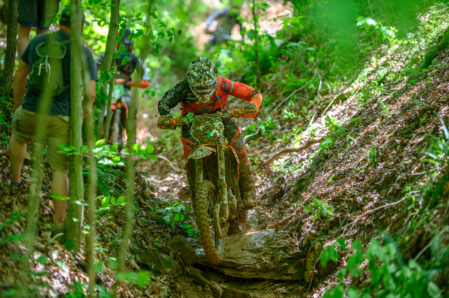 Ben Kelley weaving his way through a tough ravine section. Darrin Chapman