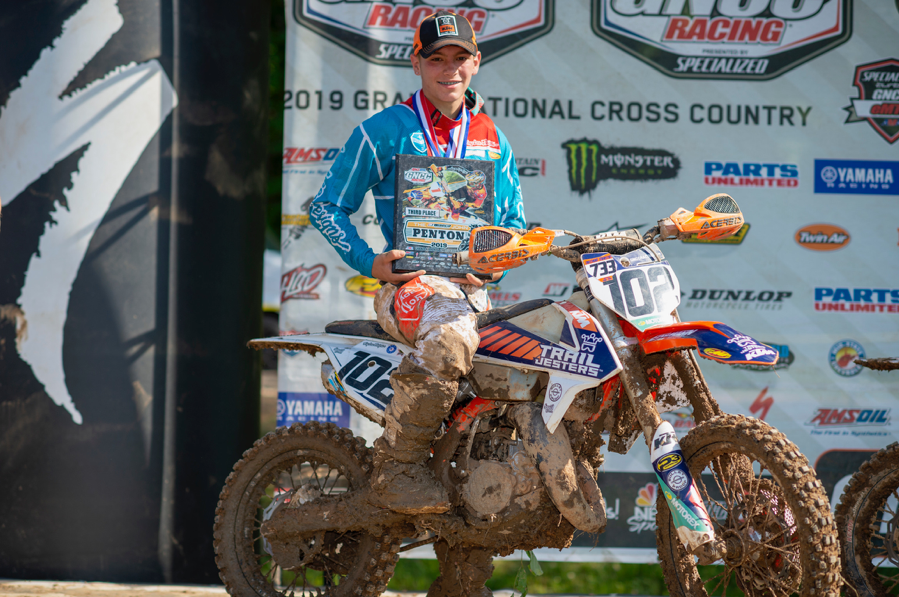 All smiles for Brayden Nolette on the Youth Overall podium. Darrin Chapman