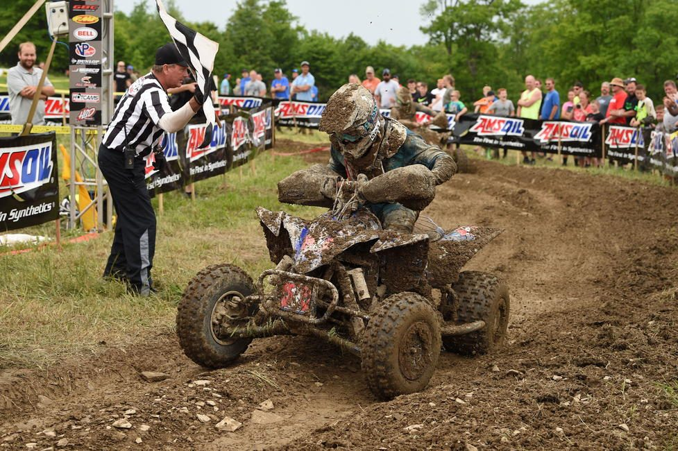Walker Fowler came through first, earning his 50th career overall ATV win, after a hard-fought battle.