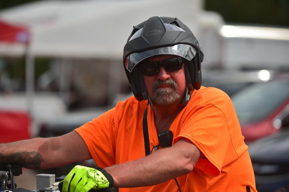 Along with being the security director, Big John has many different roles during a GNCC race weekend.