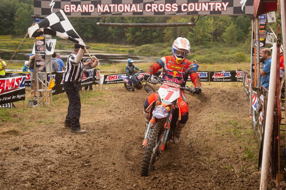 Kailub Russell earned his 60th career overall win, while also taking the inaugural Black Sky GNCC overall win.
