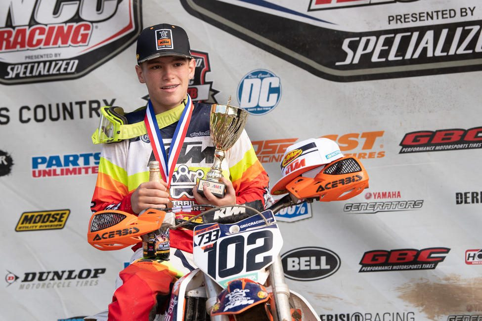 Brayden Nolette took home his first youth overall and YCX1 Super Mini Sr. class win.