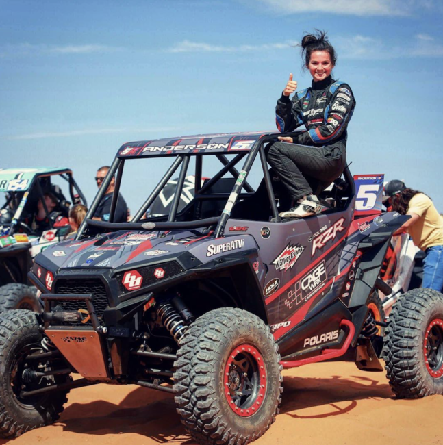 Sponsored racer Shelby Anderson relies on her Terra Master UTV tires to dominate the WORCS Racing Series.