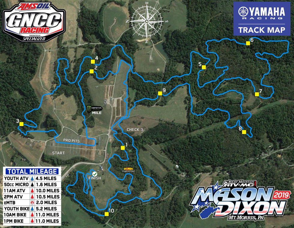 Mathews Farm Track Map