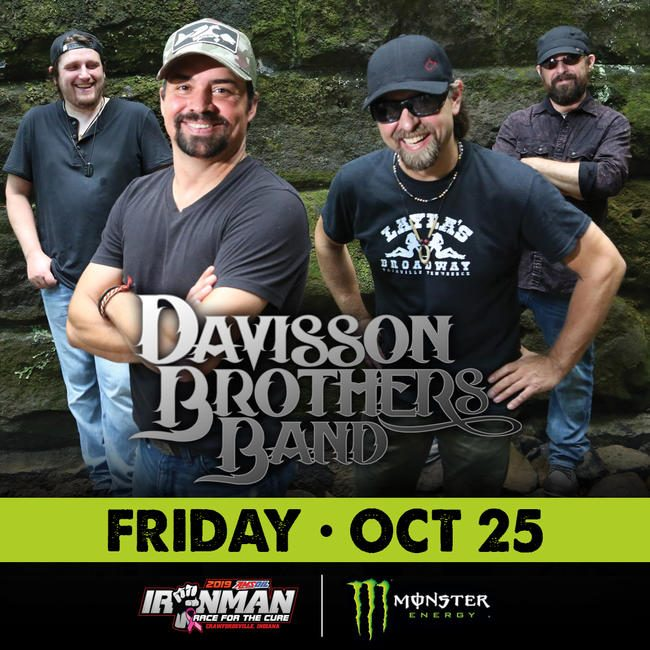 Davisson Brothers Band will perform on Friday, October 25 at 9:00 p.m.
