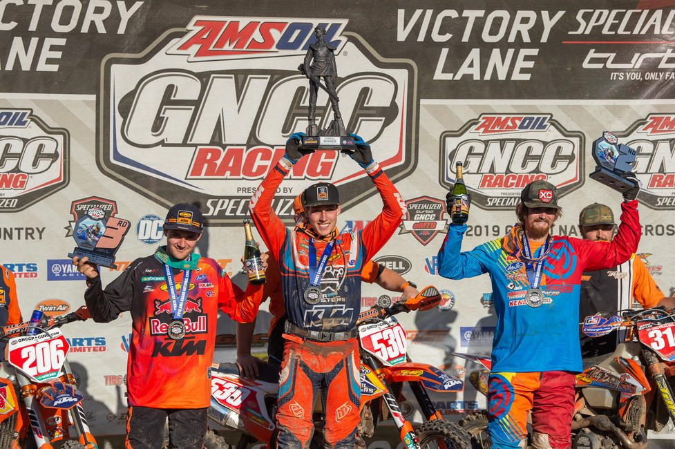 Ben Kelley (center), Grant Baylor (right) and Josh Toth (left) rounded out the overall podium in West Virginia.