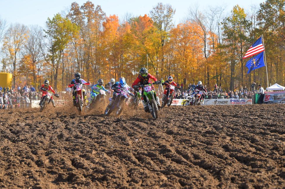 Jordan Ashburn jumped off the line first to grab the $250 All Balls Racing XC1 Holeshot Award.