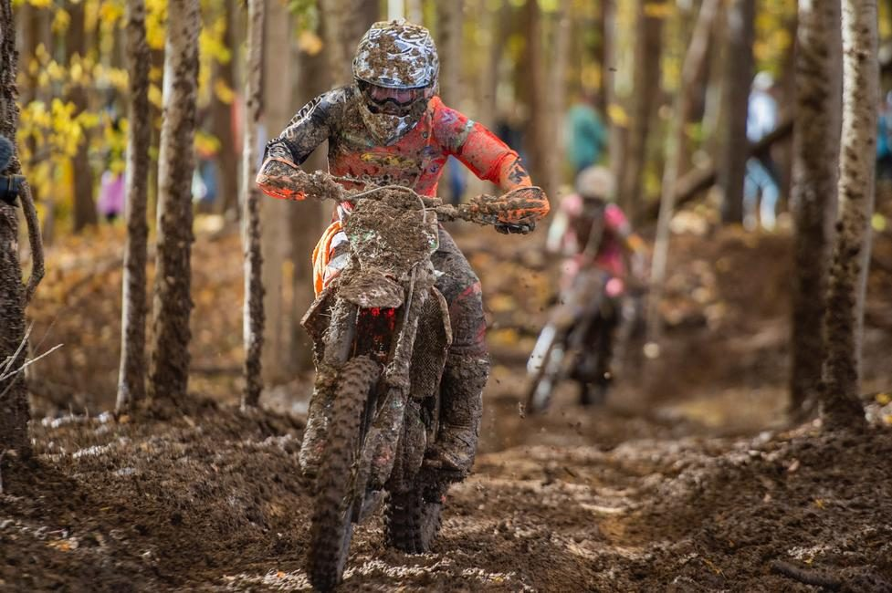 Jesse Ansley on his first XC2 race aboard his KTM 250 XC-F.