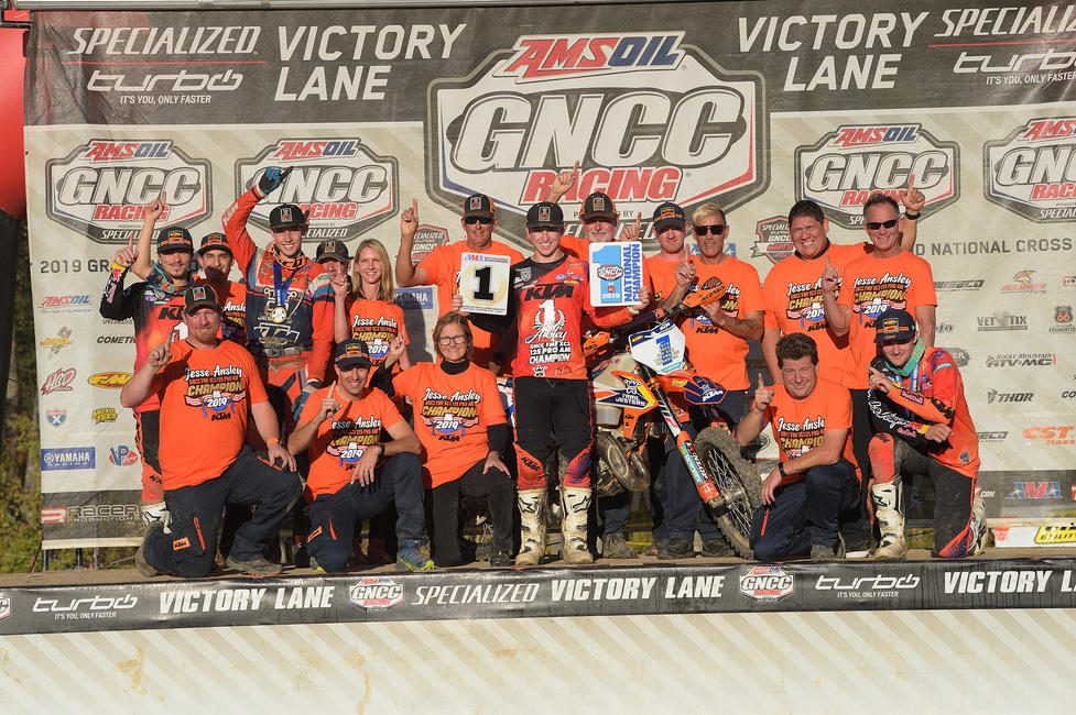 Ansley was able to clinch the 2019 FMF XC3 125 Pro-Am National Championship at round 12 in West Virginia.