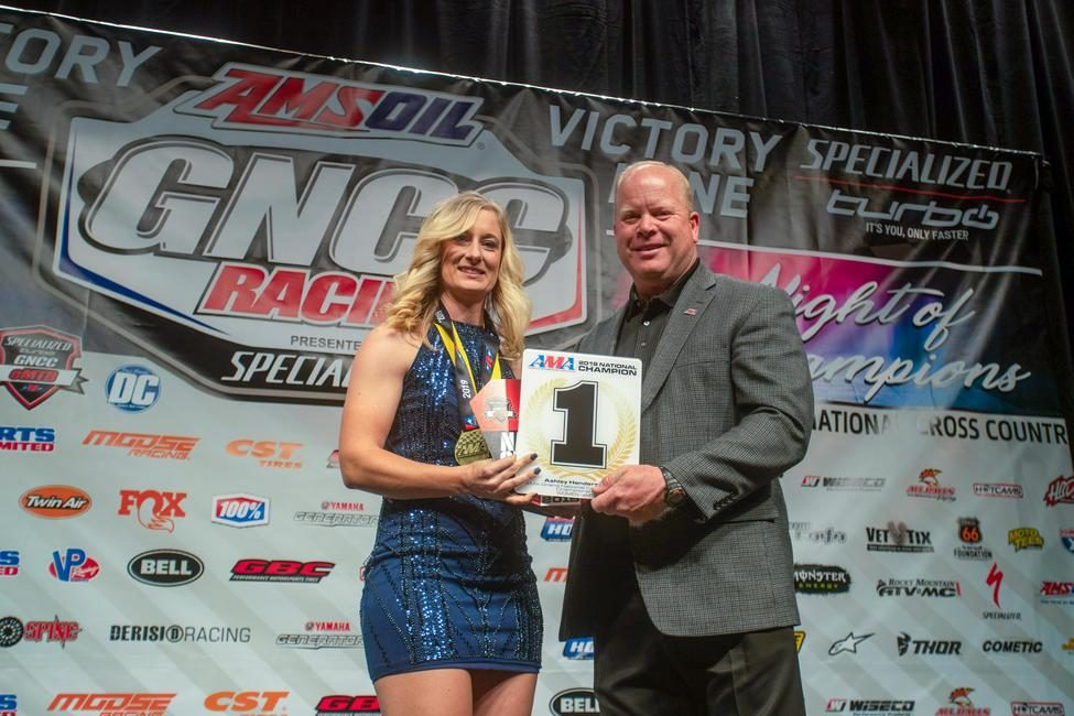 Ashley was awarded her AMA National Champion #1 plate at the GNCC Banquet in December.