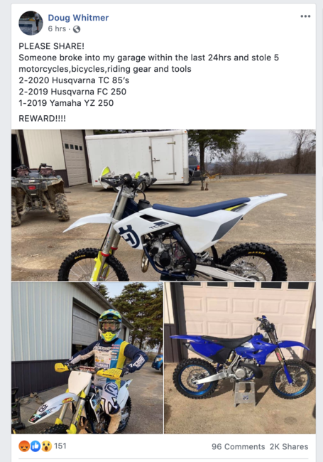 Be on the lookout for these bikes!
