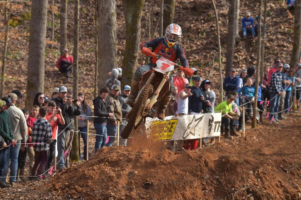 Kailub Russell (FMF/KTM Factory Racing) captured the season opener win at the 23rd Annual Big Buck GNCC.