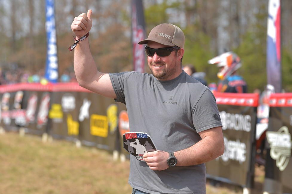 Travis Snelson was awarded GNCC's first Moto Hero award of 2020.