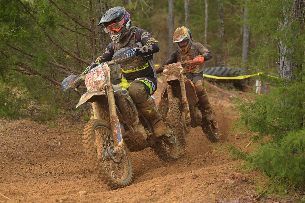 Steward Baylor (FactoryONE Sherco) and Kailub Russell (FMF/KTM Factory Racing) had an intense battle for the duration of the race on Sunday afternoon.