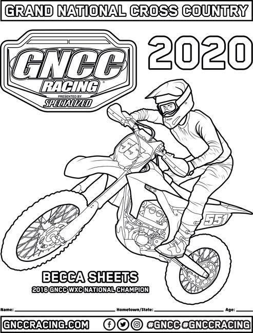 GNCC Coloring Pages - GNCC Racing
