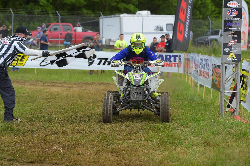 Charlie Stewart came through to clinch the YXC1 Super Mini Sr. class win at High Point.