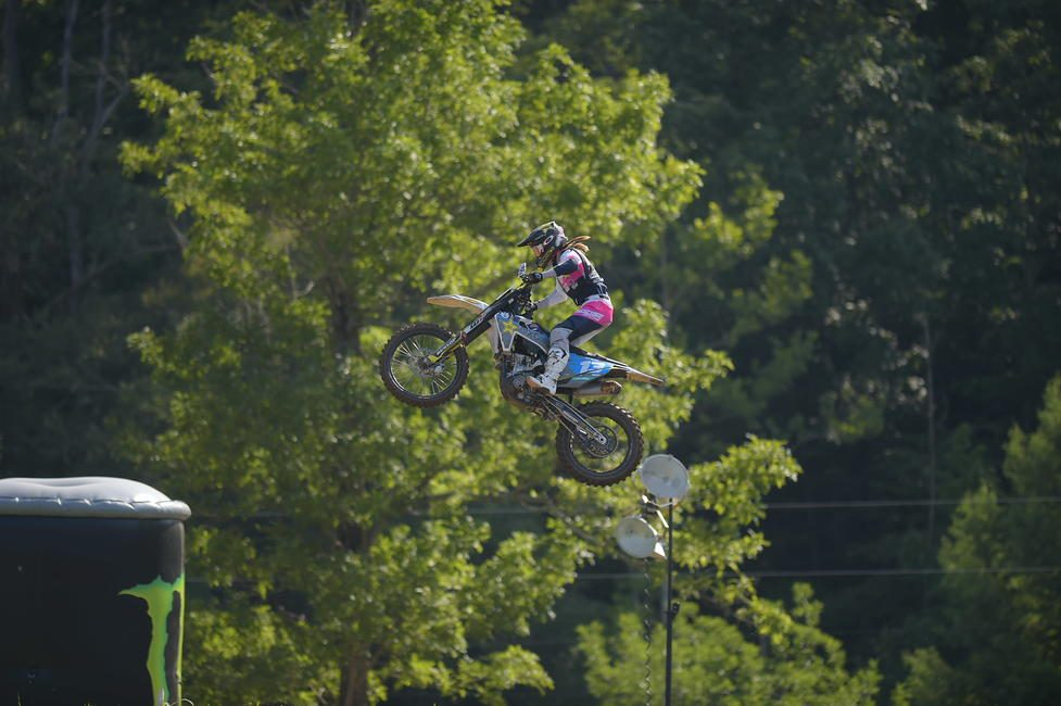 Tayla Jones flying high at the 2020 AMA Amateur National Championship in the Women's class.