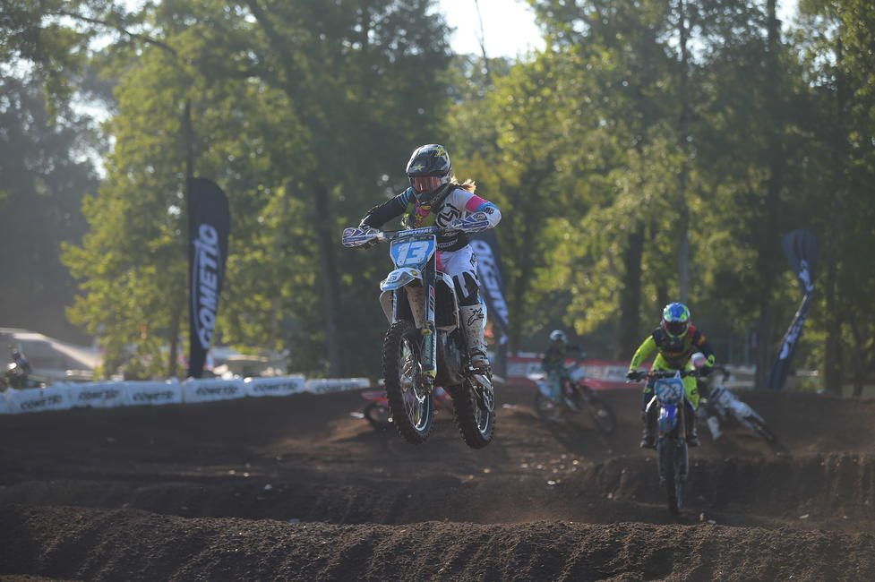 Jones would finish third overall after racing three motos during the week of Loretta's.
