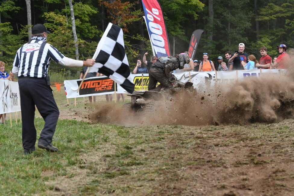 McGill Mafia/Obor Tires/LSR/Moose Racing's Adam McGill brought home the Mountaineer GNCC overall win.