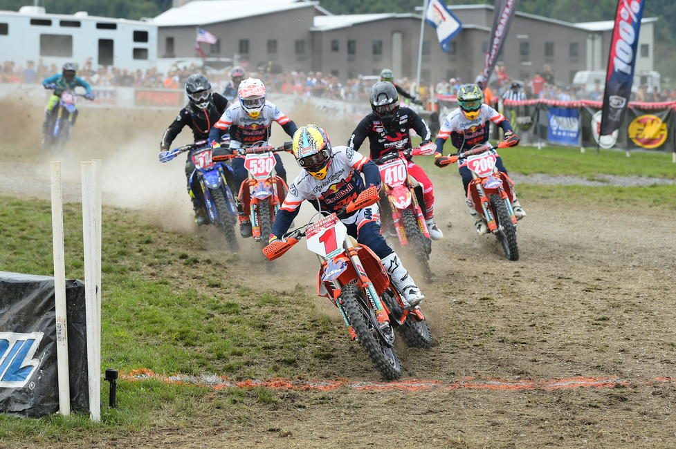 FMF/KTM Factory Racing's Kailub Russell grabbed the $250 All Balls Racing XC1 Holeshot award.