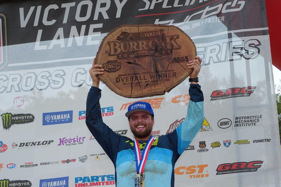 Steward Baylor Jr. (AmPro Yamaha) earned his second-straight win of the season at the Yamaha Burr Oak GNCC. Photo: Ken Hill