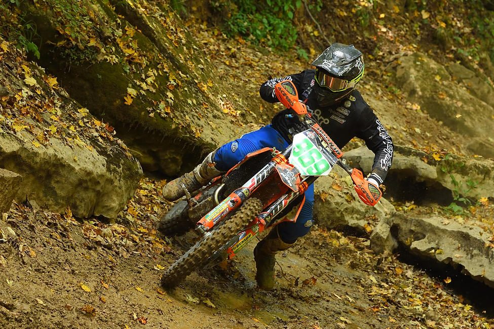 Jonathan Girroir (Trail Jesters KTM) took home his fifth win in the XC2 class, and now holds the points lead. Photo: Ken Hill