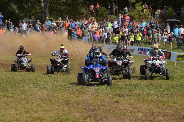 Walker Fowler was awarded the holeshot award at the Burr Oak GNCC. Photo: Ken Hill