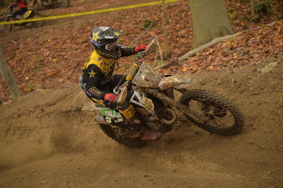 Craig Delong (Rockstar Energy Husqvarna Factory Racing) brought home the XC2 250 Pro class win. Photo: Ken Hill