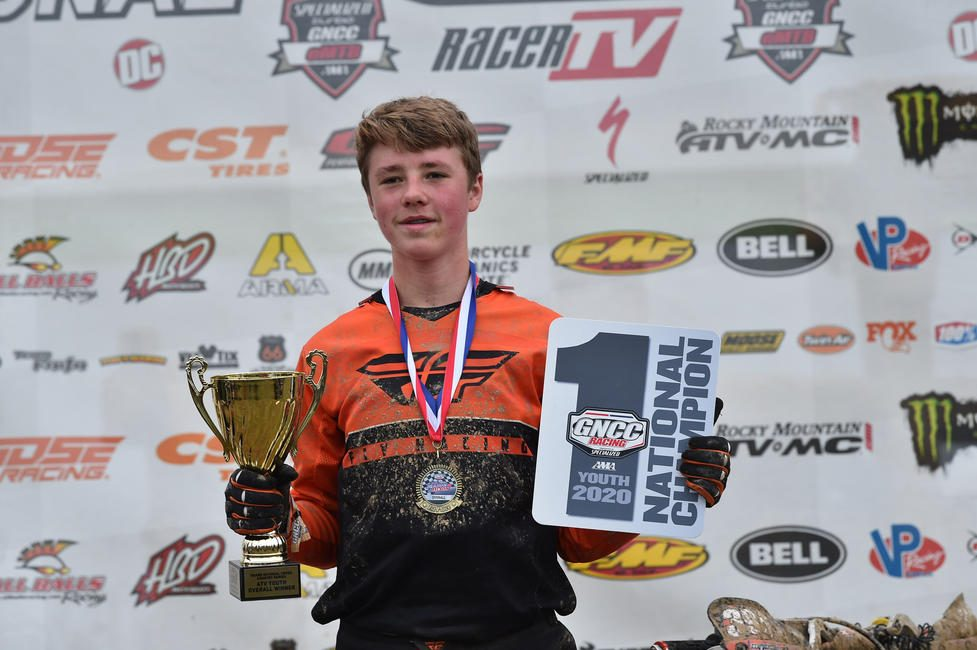 Cox earned seven overall youth wins throughout the 2020 season to clinch the National Championship. Photo: Ken Hill
