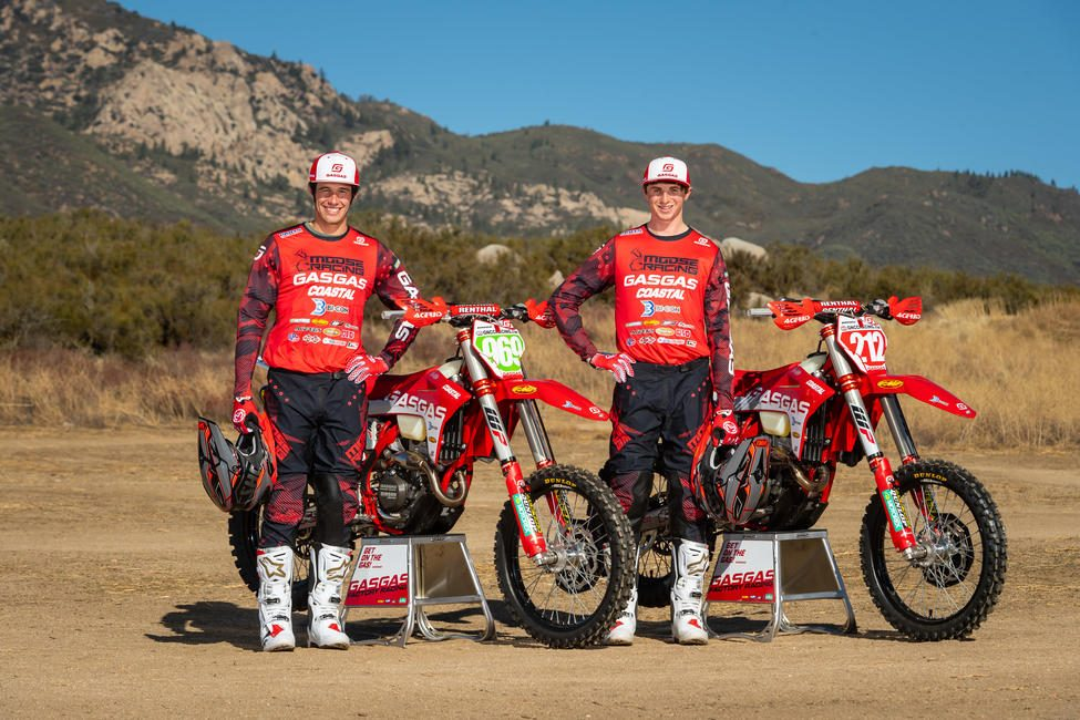 Johnny Girroir (#969) and Ricky Russell (#212) will make up the brand new Coastal GASGAS Factory Racing Team.