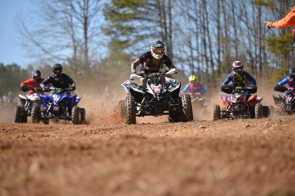 FTR Graphics/Fly Racing/Nine2 Goggles' Westley Wolfe grabbed the $100 All Balls Racing Holeshot Award. Photo: Ken Hill