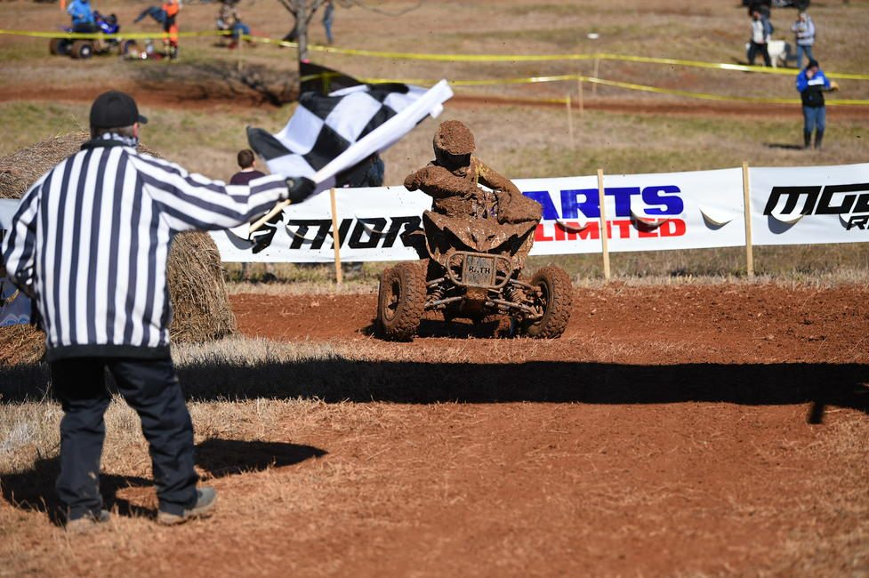 Caden Spires came through to take the Youth ATV Overall win. Photo: Ken Hill