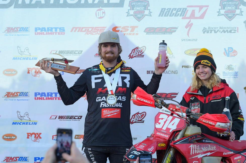 Baylor earned the 24th Annual VP Racing Fuels Big Buck GNCC overall win. Photo: Ken Hill