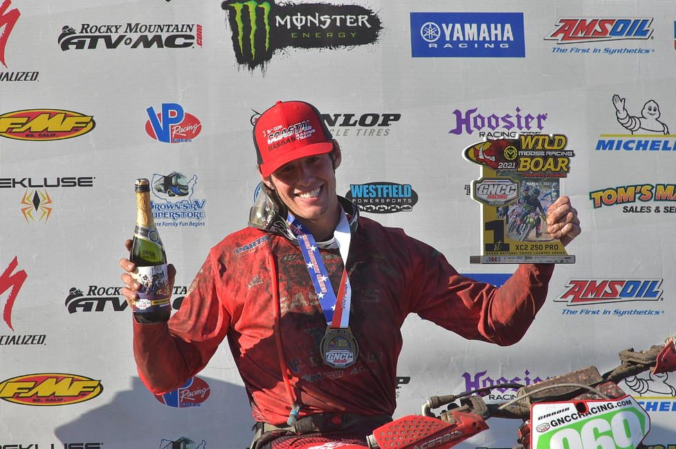 Coastal GASGAS Factory Racing's Jonathan Girroir clinched the XC2 250 Pro class win in Florida for second-straight year. Photo: Ken Hill