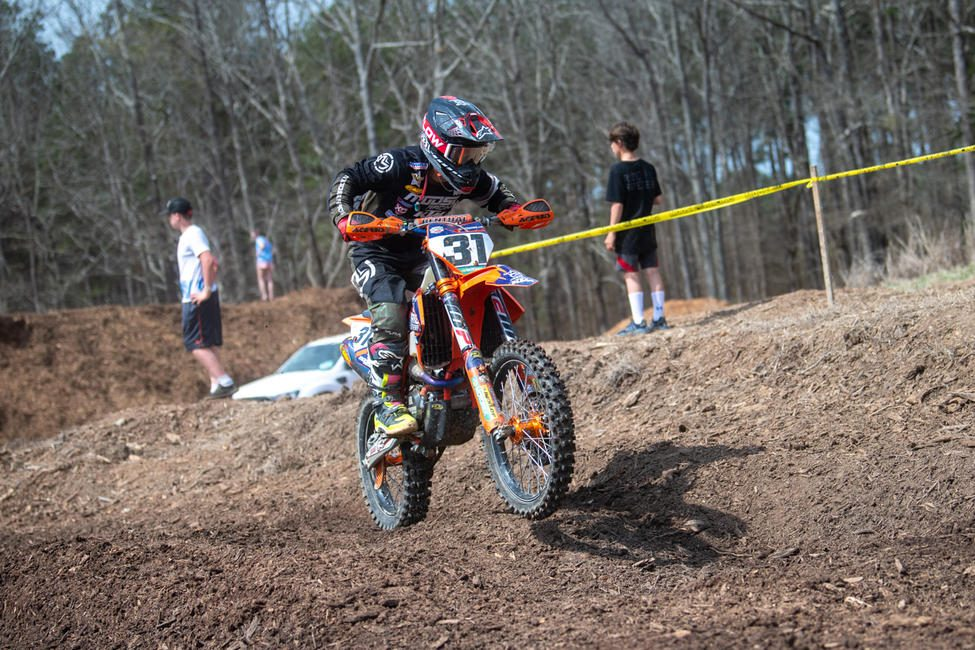 Brayden Nolette pushing himself to make up ground in the 250A class. Shan Moore