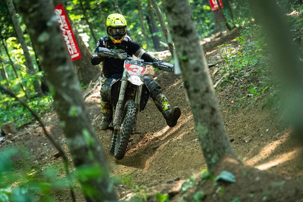Jordan Ashburn (Magna1 Motorsports/Husqvarna) battled throughout the race and would end the day third overall. Photo: Mack Faint